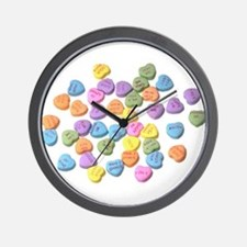 valentines day hearts candy Wall Clock