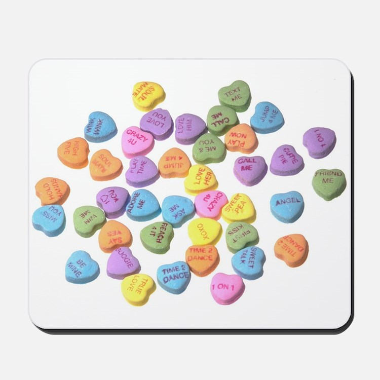 valentines day hearts candy Mousepad