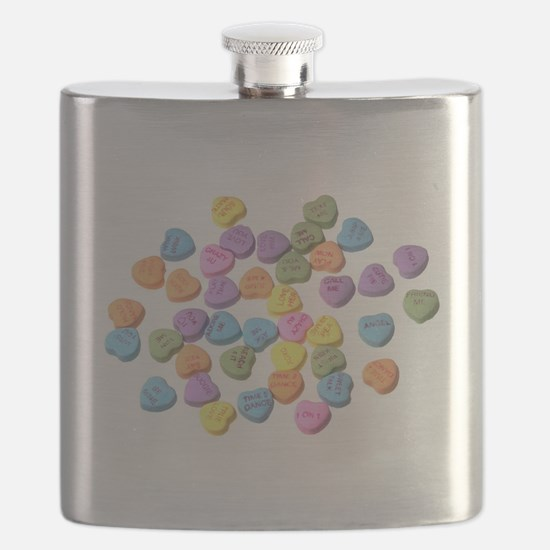 valentines day hearts candy Flask