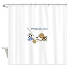 Personalized Sports Shower Curtain