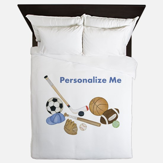 Personalized Sports Queen Duvet