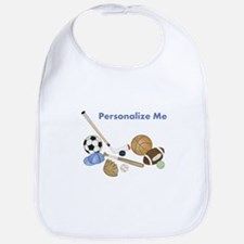 Personalized Sports Baby Bib