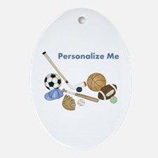 Personalized Sports Ornament (Oval)