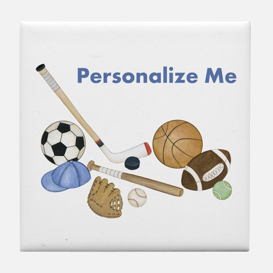Personalized Sports Tile Coaster