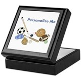 Sports Square Keepsake Boxes