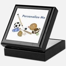 Personalized Sports Keepsake Box