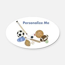 Personalized Sports Oval Car Magnet