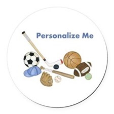Personalized Sports Round Car Magnet