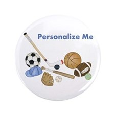 "Personalized Sports 3.5"" Button"