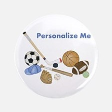 """Personalized Sports 3.5"""" Button"""
