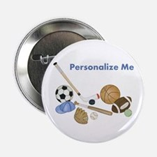 """Personalized Sports 2.25"""" Button"""