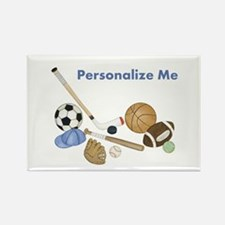 Personalized Sports Rectangle Magnet (100 pack)