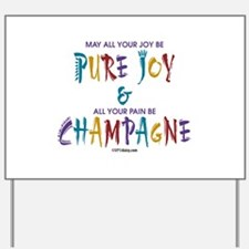 Champagne Yard Sign