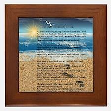Footprints in the Sand Framed Tile