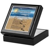 Footprints poem Square Keepsake Boxes