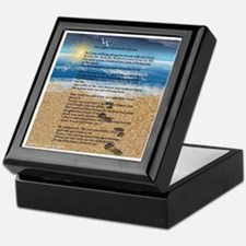 Footprints in the Sand Keepsake Box