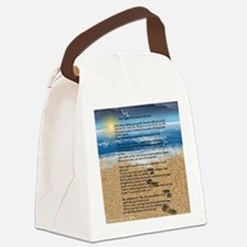 Footprints in the Sand Canvas Lunch Bag