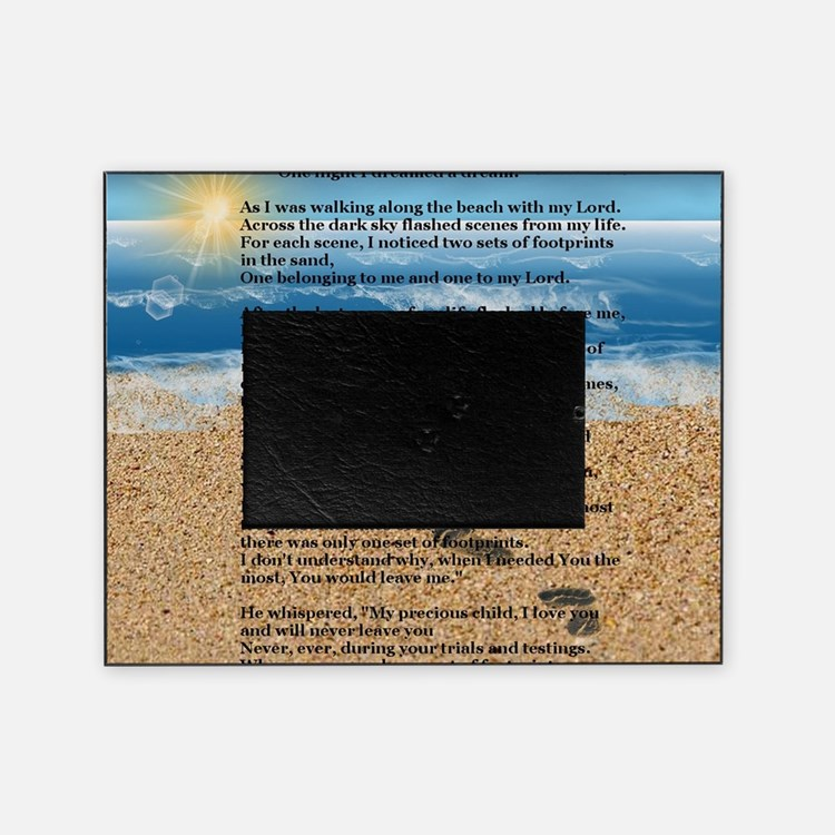 Footprints in the Sand Picture Frame