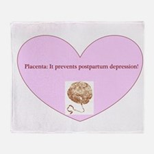 Power of placenta Throw Blanket