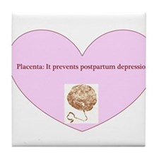 Power of placenta Tile Coaster