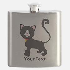 Cute, Kitty Cat; Kitten, Kid's Boy or Girl Flask