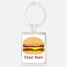 Hamburger, Cheeseburger Keychains