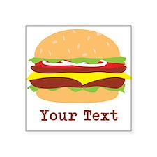 Hamburger, Cheeseburger Sticker