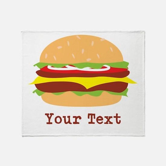 Hamburger, Cheeseburger Throw Blanket