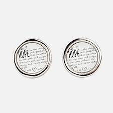Hope Round Cufflinks