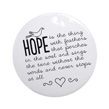 Hope Ornament (Round)