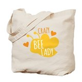 Crazy bee lady Canvas Totes