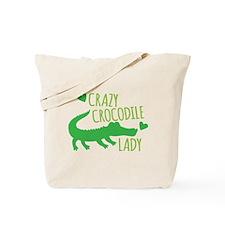 Crazy Crocodile Lady Tote Bag