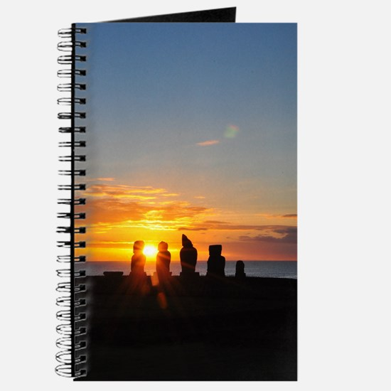 Easter Island Sunset 1 Vertical Journal