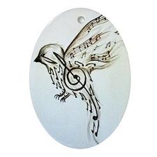 Songbird Oval Ornament