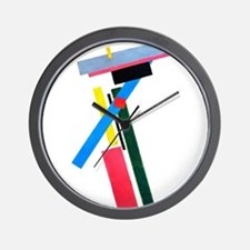 Malevich Abstract Rectangles Russian Ar Wall Clock