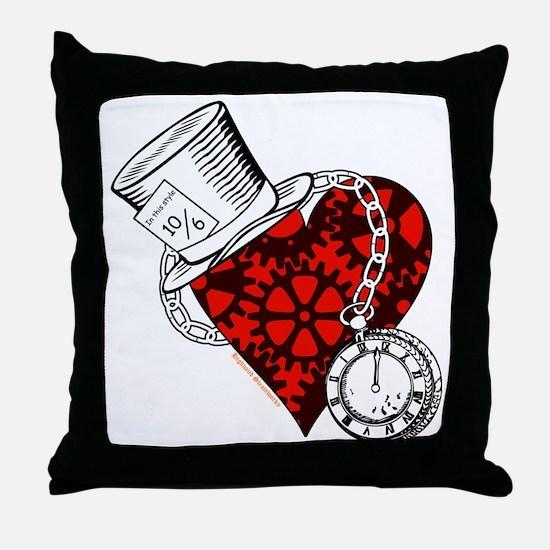 Steampunk Wonderland Throw Pillow