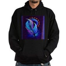 feather with flowers 2.png Hoodie
