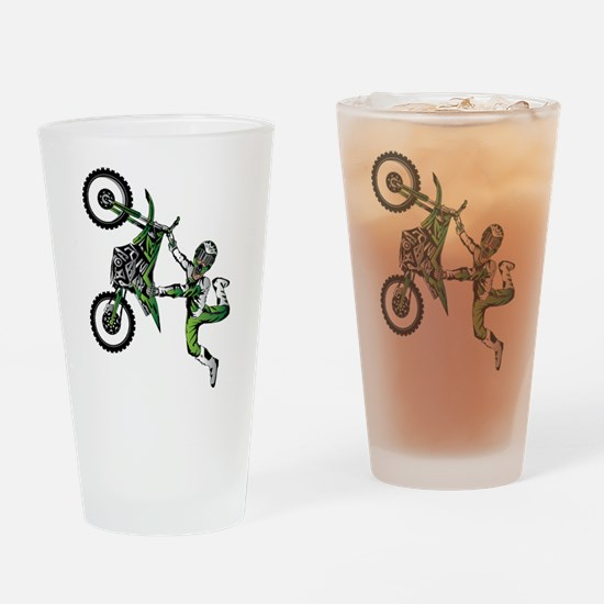 Funny Supercross Drinking Glass