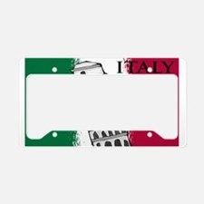 Italian Flag Art License Plate Holder