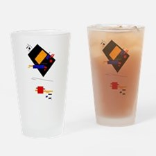 Malevich Abstract Rectangles Russia Drinking Glass