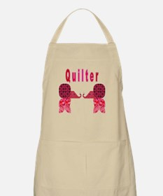 Quilter Pink Elephants t-shir BBQ Apron