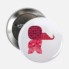 Quilter Pink Elephants t-shir Button