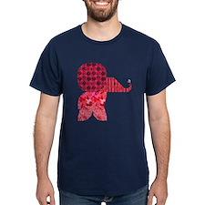Quilter Pink Elephants t-shir T-Shirt