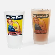 We Can Do It! All Night Long! My Pl Drinking Glass