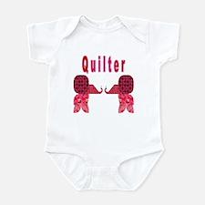 Quilter Pink Elephants t-shir Infant Bodysuit