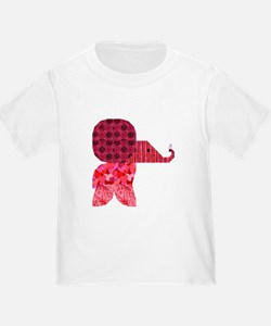 Quilter Pink Elephants t-shir T