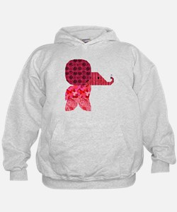 Quilter Pink Elephants t-shir Hoodie