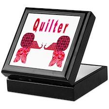 Quilter Pink Elephants t-shir Keepsake Box