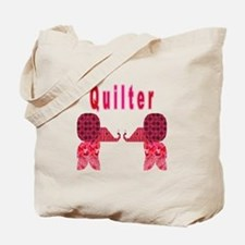 Quilter Pink Elephants t-shir Tote Bag