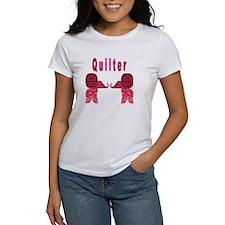Quilter Pink Elephants t-shir Tee